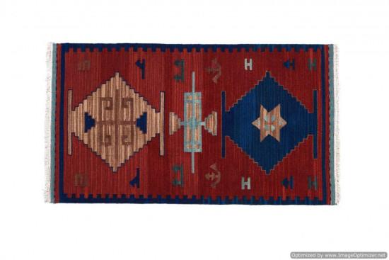 Tappeto Kilim 43B fatto a mano, 95x155 cm