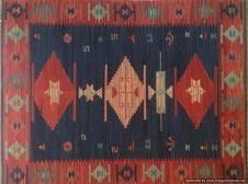 Tappeto Kilim 43BV1 fatto a mano, 128x185 cm