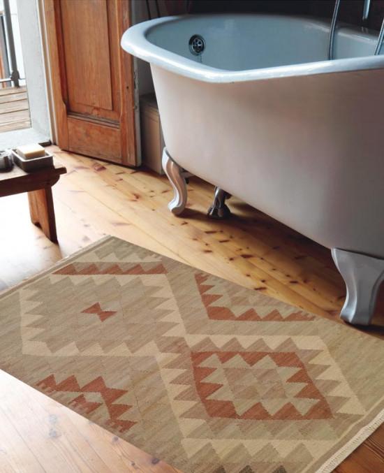 Tappeto Kilim 442-1: ideale per bagno - DImensioni 65x110 cm