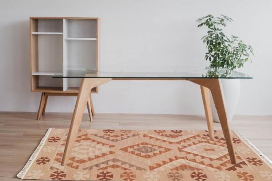 Tappeto Kilim 442 fatto a mano, 95x155 cm