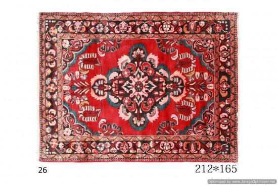 Tappeto Persiano Lilian con Motivi Floreali e Geometrici 212x165 cm