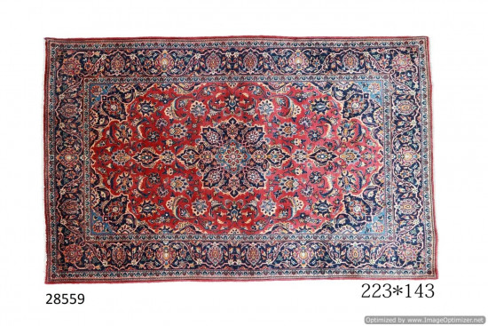 Tappeto Persiano Kashan Kork, 143x223 cm