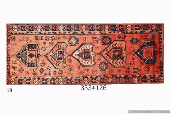 Tappeto Persiano Lori Old 126x333 cm