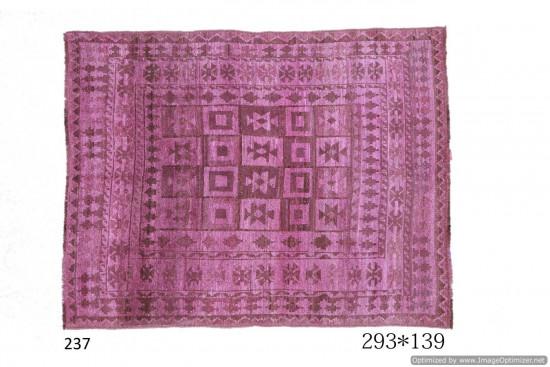 Tappeto Gabbeh Afgano in rosa decorato - Dimensioni 139x193 cm