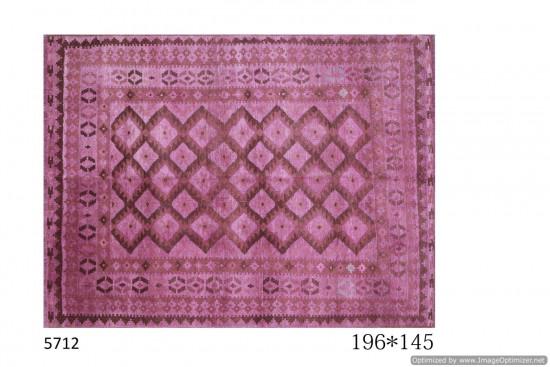 Tappeto Gabbeh Afgano Rosa - Dimensioni 196x145 cm