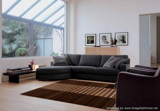 Tappeto Kilim rettangolare marrone 5-BR 255x310 cm