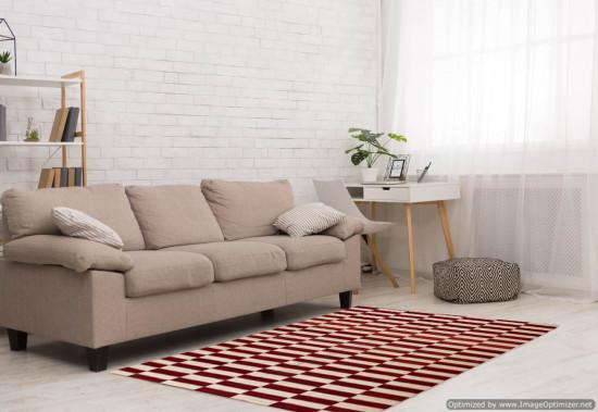 Tappeto Kilim Rettangolare 6-RED misura 210x265 cm