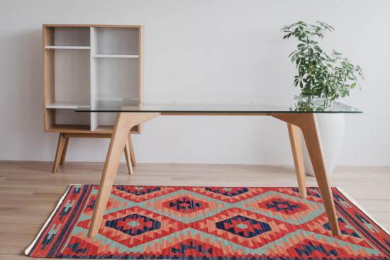 Tappeto Kilim 66A fatto a mano, 95x155 cm