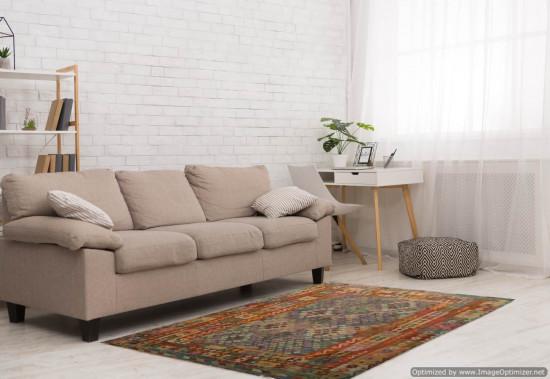 Tappeto Kilim Afgano 69 misura 301x254 cm