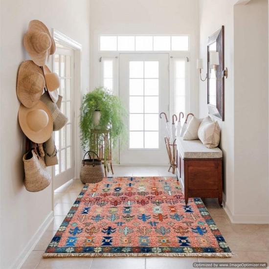 Tappeto Persiano Baluch Colorato 77 - Dimensioni 134x86 cm