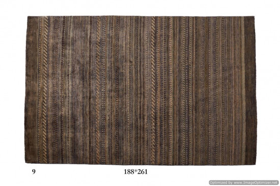 Tappeto Gabbeh Moderno Persia Annodato a mano-261x138 col.9
