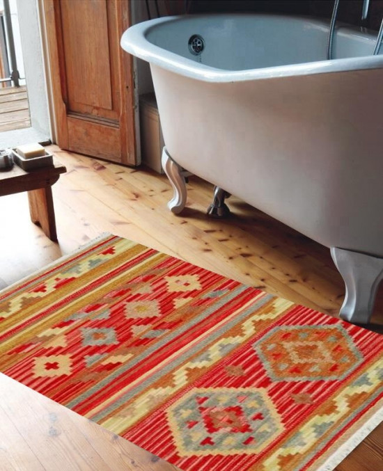 Tappeto Kilim per bagno A16 65x110 cm