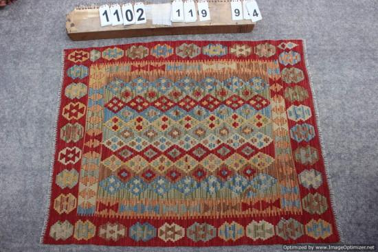 Kilim Afgano 1102 misura 119x94 cm