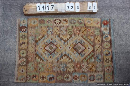 Kilim Afgano 1117 misura 123x81 cm