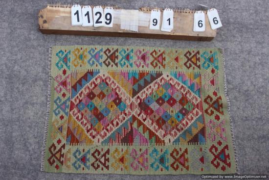 Kilim Afgano 1129 misura 91x66 cm