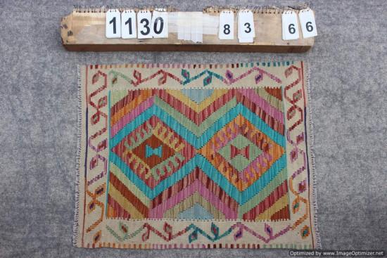Kilim Afgano 1130 misura 83x66 cm