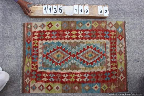 Kilim Afgano 1135 misura 119x82 cm