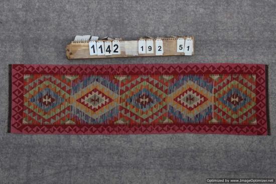 Kilim Afgano 1142 misura 192x51 cm