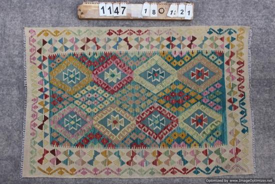 Kilim Afgano 1147 misura 180x121 cm