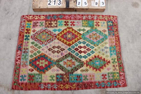 Kilim Afgano 213 misura 125x93 cm