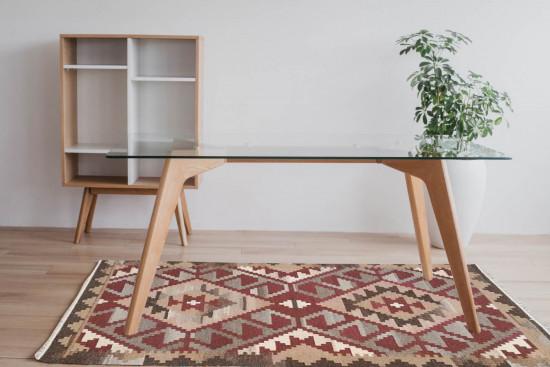 Tappeto Kilim BRIC4A fatto a mano, 128x185 cm
