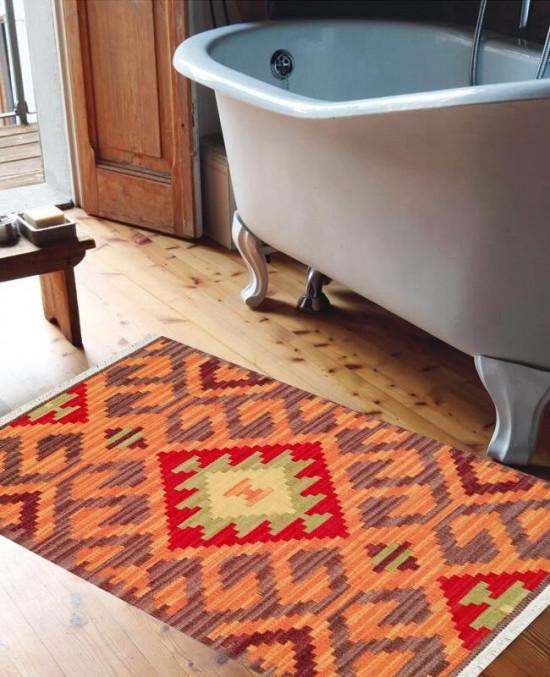 Tappeto Kilim per bagno BRIC6B-65x110 cm