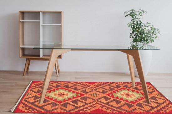 Tappeto Kilim Rettangolare BRIC6B misura 95x155 cm