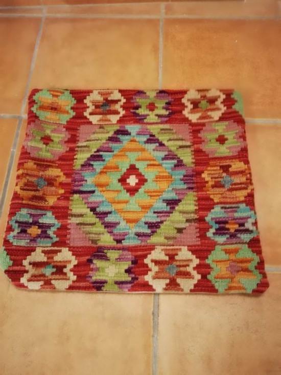Fodera Cuscino stile afgano  16 misura 45x45 cm
