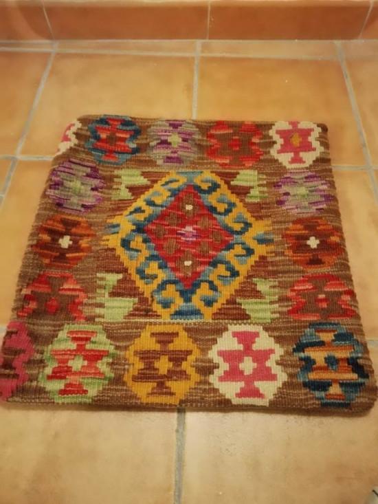 Fodera Cuscino stile afgano  26 misura 45x45 cm
