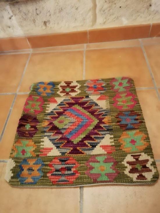Fodera Cuscino stile afgano  31 misura 45x45 cm