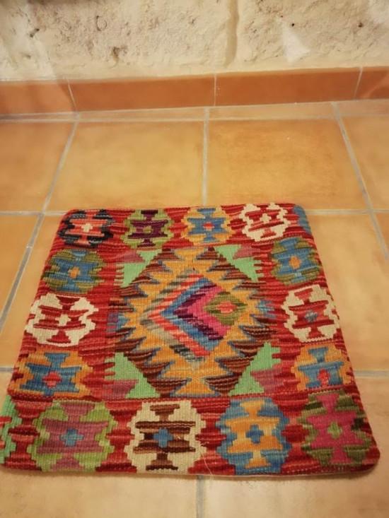 Fodera Cuscino stile afgano  32 misura 45x45 cm