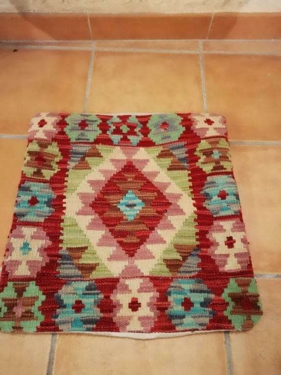 Fodera Cuscino stile afgano  37 misura 45x45 cm