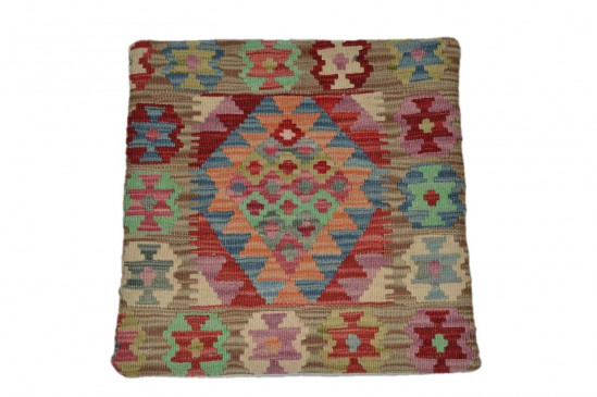 Fodera Cuscino stile afgano  54 misura 45x45 cm