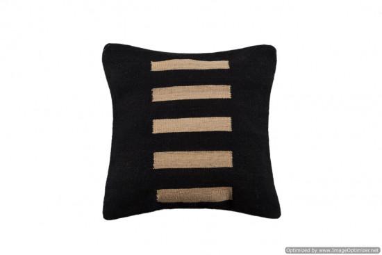 Cuscino Kilim stile afgano nero - Dimensione 45x45 cm