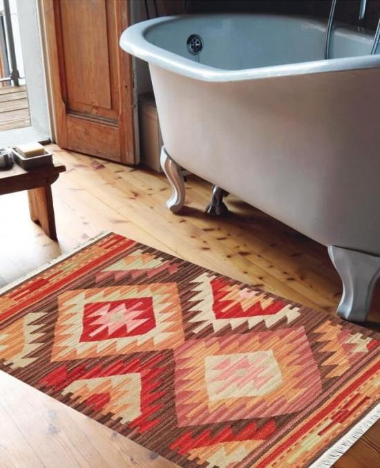 Tappeto Kilim FC03V1 per il bagno 65x110 cm