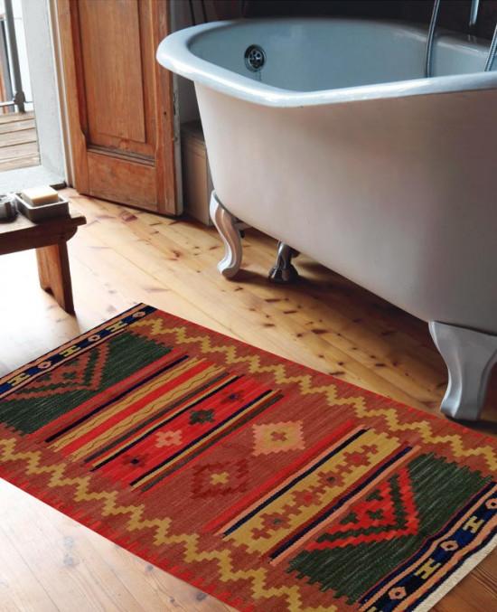 Tappeto Kilim FC508C per il bagno 65x110 cm