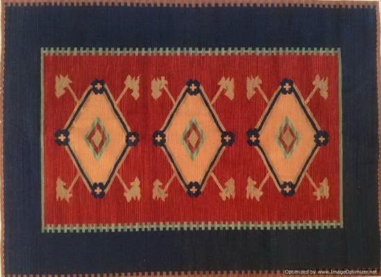 Tappeto Kilim FC53v1 fatto a mano, 128x185 cm