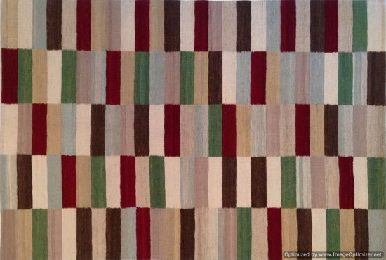 Tappeto Kilim Turkestan multicolore fatto a mano