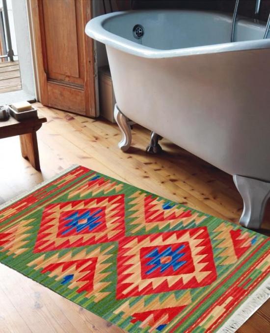 Tappeto Kilim per bagno FLUO 65x110 cm