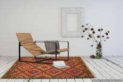Tappeto Kilim FLUO fatto a mano, 128x185 cm
