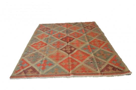 Afghan Kilim 25, Miss Cucci,Dimensione 265x210 cm