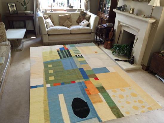 Tappeto Kilim Limin Sumak Design Moderno - Dimensioni 200x300 cm