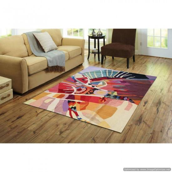 Tappeto Kilim Limin Sumak Moderno e Colorato - Dimensioni 200x300 cm