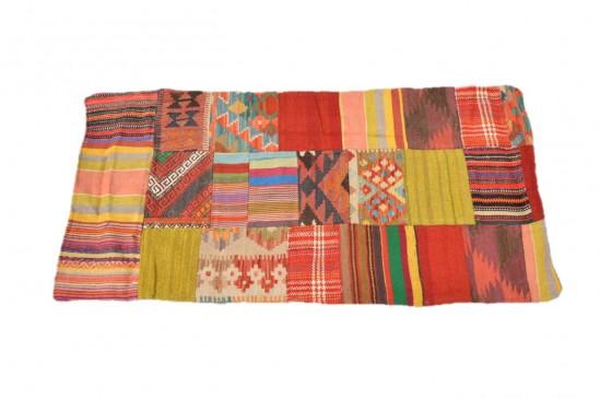 Tappeto Kilim Patchwork  10150 misura 123x61 cm