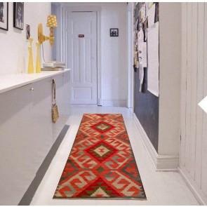 Tappeto Kilim B6B-1 per passatoia: ideale per cucina e corridoio