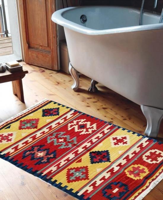 Tappeto Kilim SF06 per il bagno 65x110 cm