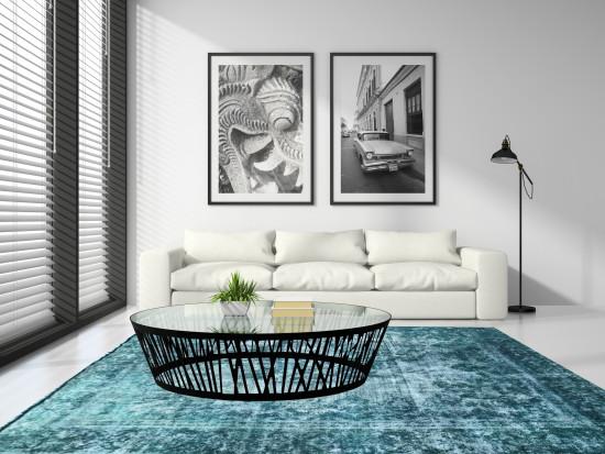 Tappeti Iraniani Vintage Overdyed 141, Dimensione 377*281 cm