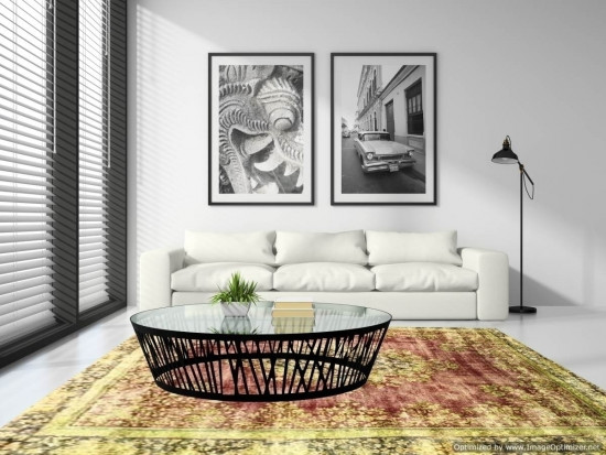 Tappeti Iraniani Vintage Overdyed 160 , Dimensione 277*218 cm