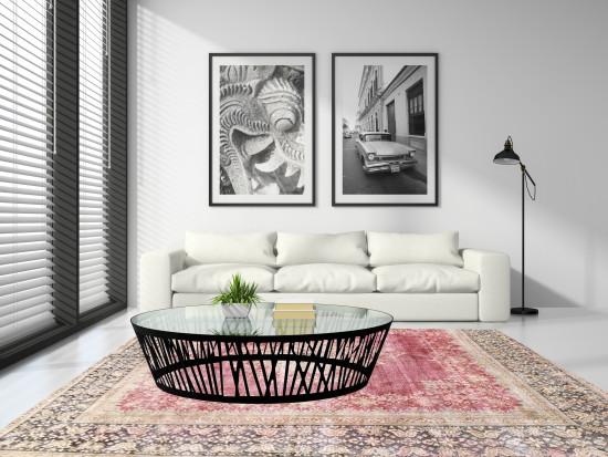 Tappeti Iraniani Vintage Overdyed 145, Dimensione 373*275 cm