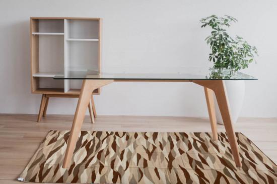 Tappeto Kilim Rettangolare WAVE misura 95x155 cm